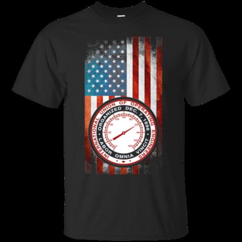 International Union Of Operating Engineers Usa Flag Hoodies