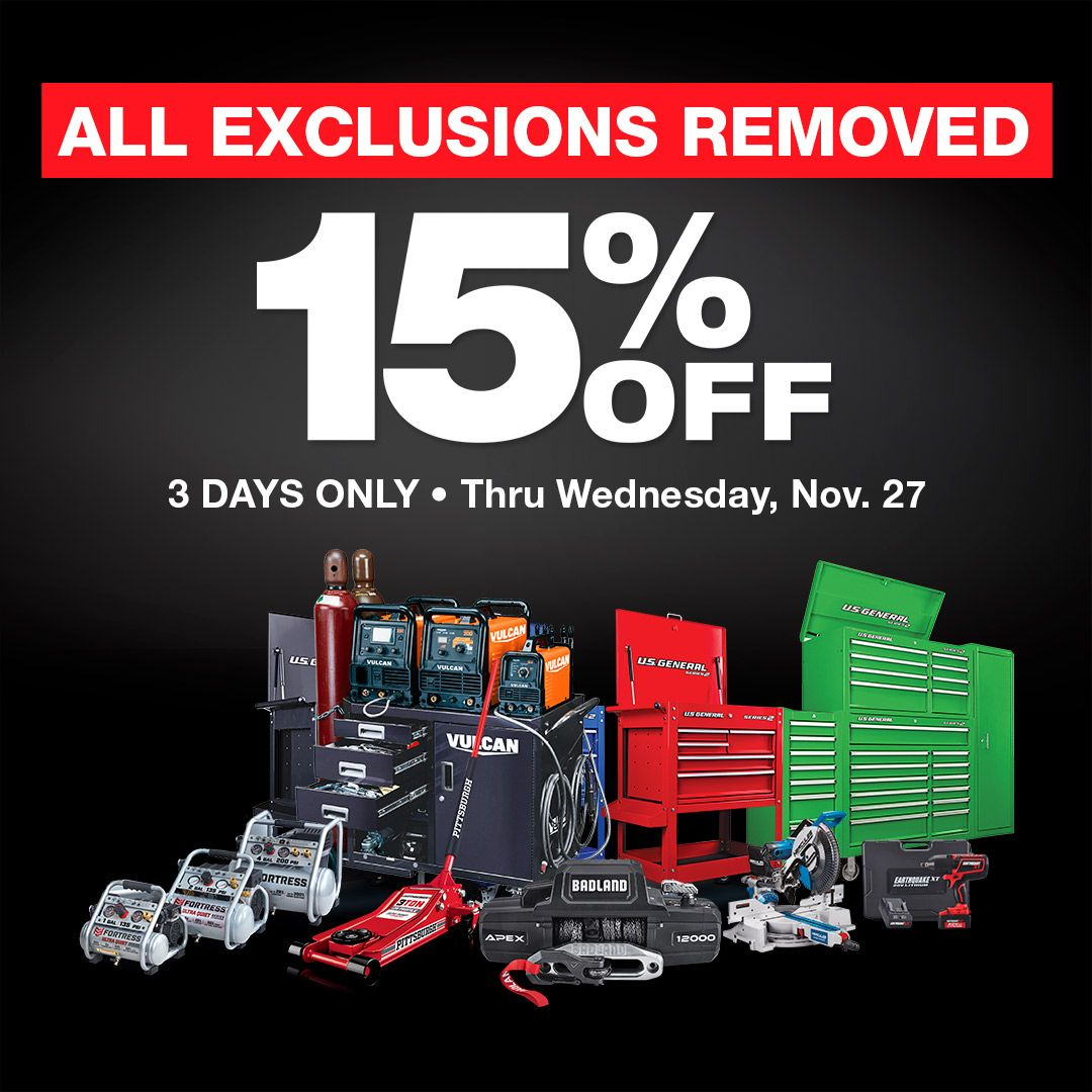15 Off NO Exclusions! PLUS, New Coupons! Harbor