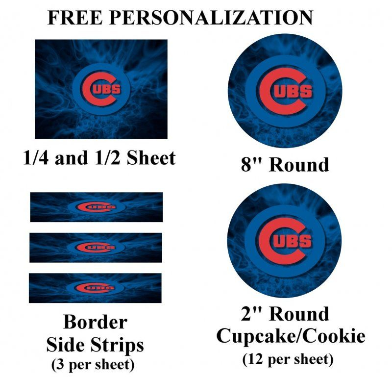 Chicago Cubs Edible Image Frosting Sheet #43 (different sizes)