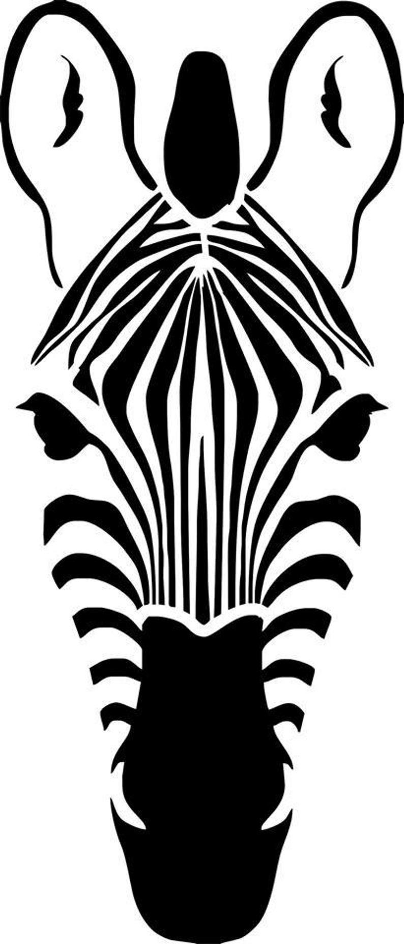 Stencil Stencil Stencil Zebra Head Stencil Kunst Stoffen Schilderen Dier Sjablonen