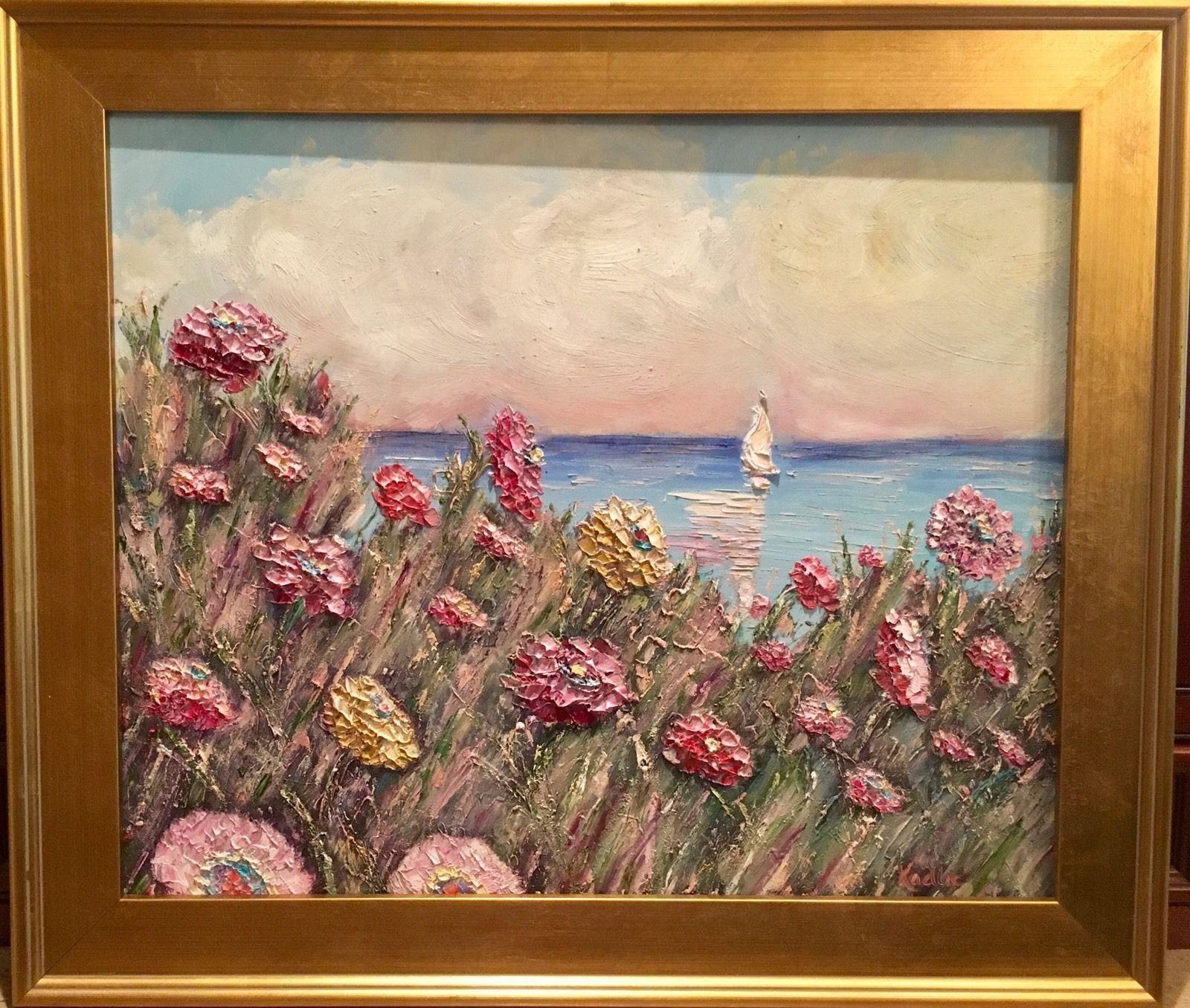 24x20\' Abstract Seascape Sunset KADLIC Original Impasto Oil Painting ...