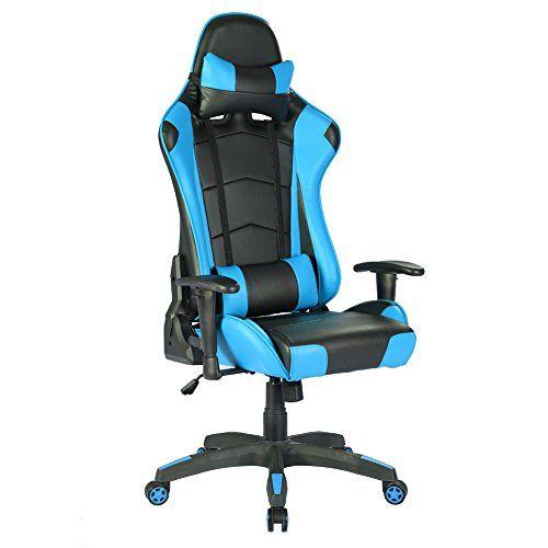 Iwmh Siege De Gaming Fauteuil Gamer Pro En Similicuir Racing Chaise De Bureau Hauteur Reglable Dossier Haut Inclinable 1 Chaise Bureau Fauteuil Fauteuil Bureau