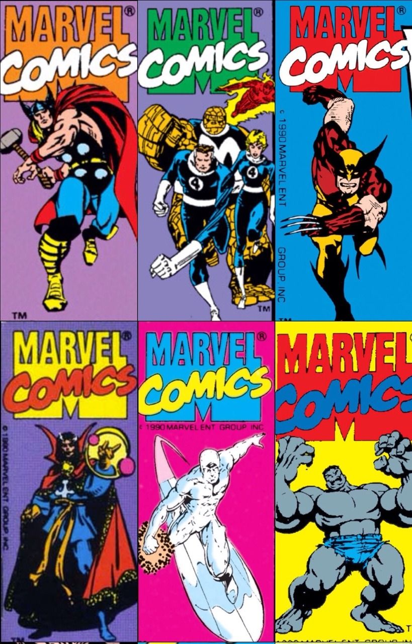 A.R.C.H.I.V.E. — transmissionsgeekroom: Marvel corner boxes 1990. | Marvel  comics superheroes, Marvel comics art, Superhero comic