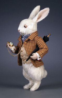 R. John Wright Presents: The White Rabbit from the Alice in Wonderland Collection - R. John Wright, Bennington, VT