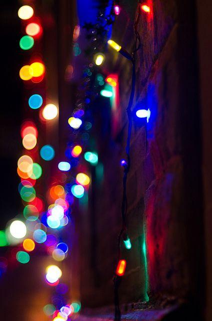 Colorful Christmas Lights Aesthetic.Pin By Amanda Edwards On Color Christmas Lights Wallpaper