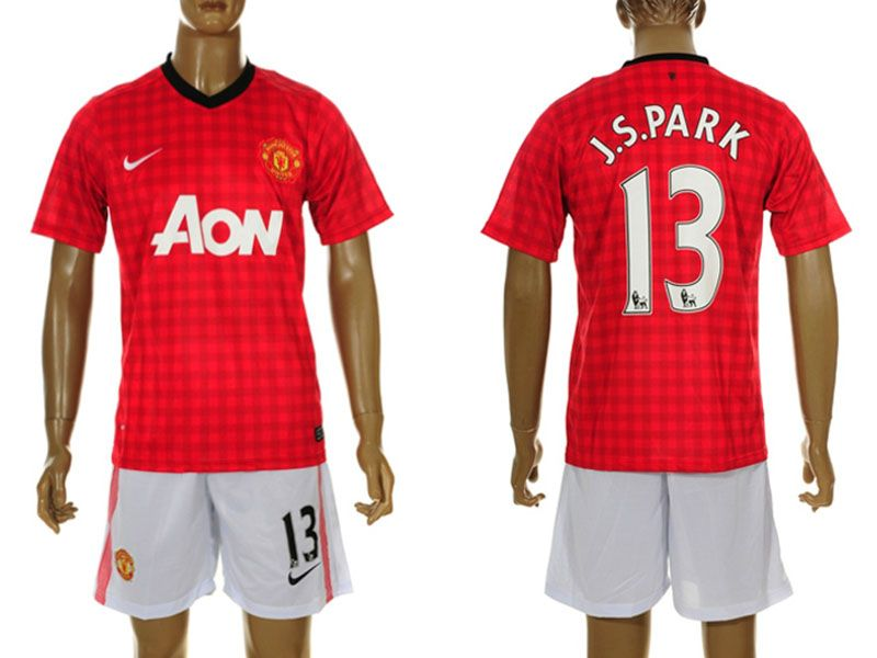 www.worldsoccerforsale.com supply 2012-2013 Manchester United J.S.Park 13# Home Soccer Jersey ...