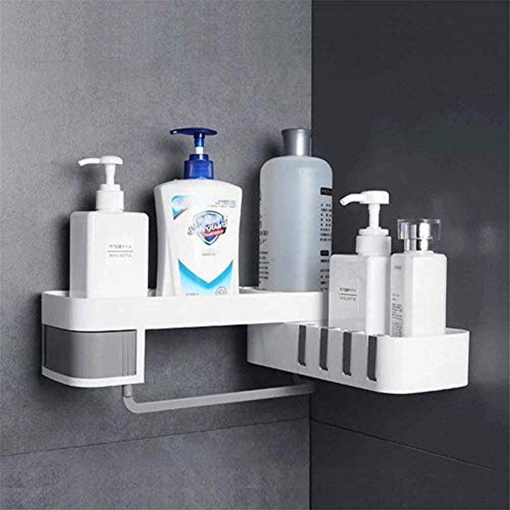 Bad Eckregal Eckregal Drehbarer Dusch Shampoo Halter Kleinigkeiten Regal Baumarkt Malerbedarf Werkzeuge T Bath Storage Bathroom Corner Storage Shower Shelves
