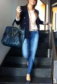 Resultado De Imagen Para Outfit Chaqueta Azul Atuendo Casual Ropa Moda