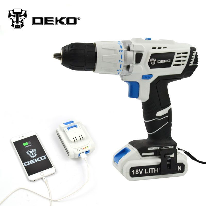 Deko 18v Dc New Design Mobile Power Supply Lithium Battery Hammer