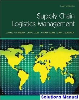 Supply chain logistics management 4th edition bowersox solutions supply chain logistics management 4th edition bowersox solutions manual test bank solutions manual exam bank quiz bank answer key for textboo fandeluxe Gallery