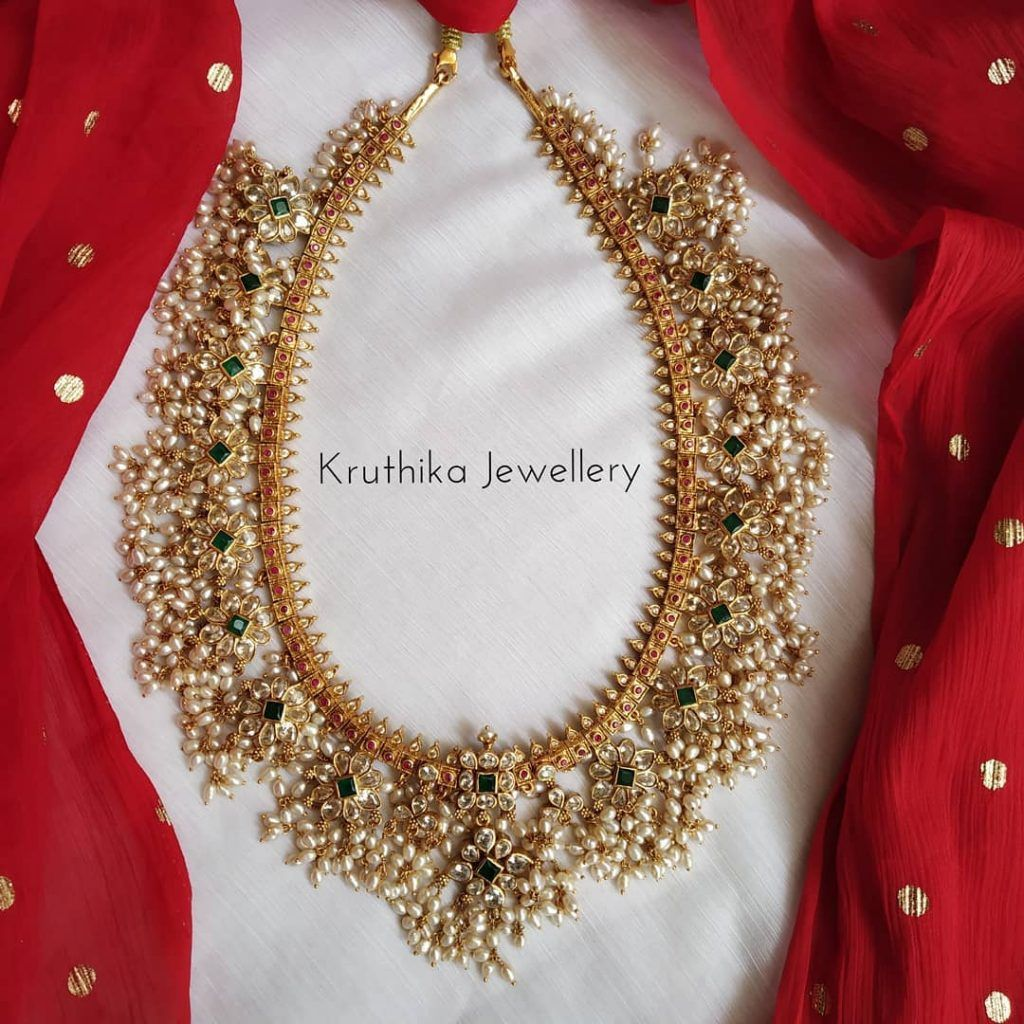 Cute Goldplated Guttapusalu Necklace From Kruthika