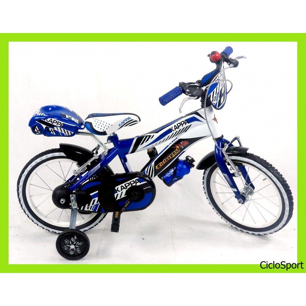 Bicicletta bimbo mountain bike 14 Blu-Bianco