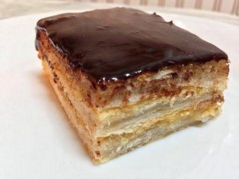 pastel milhojas de chocolate