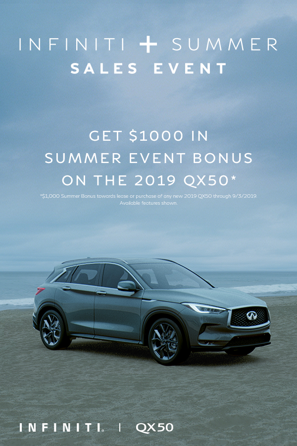 The Beach Is Calling And So Is The Innovative 2019 Infiniti
