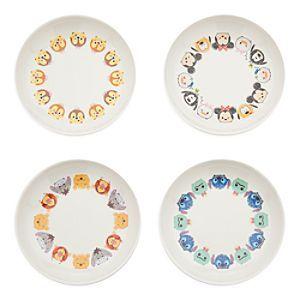 Disney Tsum Tsum Melamine Dip Plates Set Of 4 Disney Storetsum