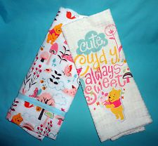 Disney Theme Parks Winnie The Pooh Kitchen Dish Towel Set Of 2
