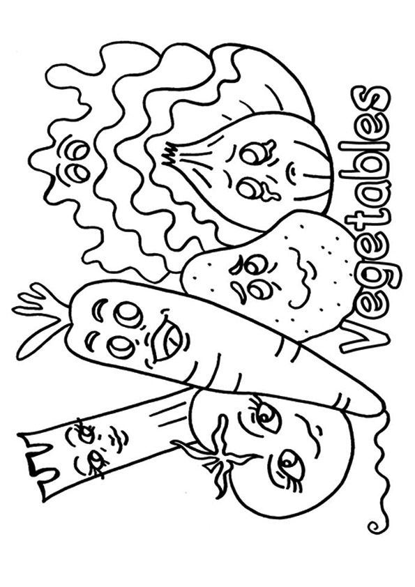 Print Coloring Image Momjunction Vegetable Coloring Pages Fruit Coloring Pages Thanksgiving Coloring Pages