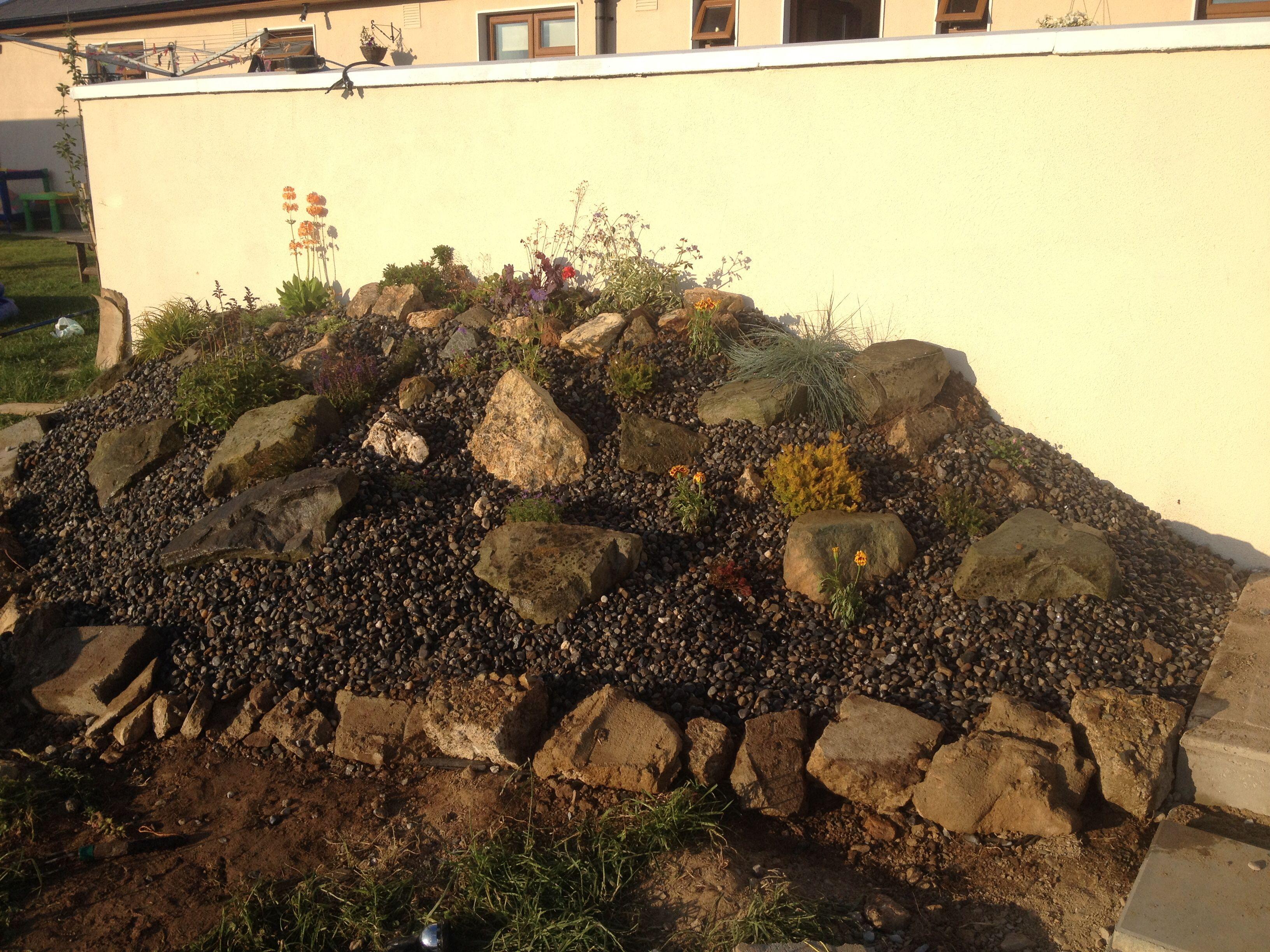 Rockery built from leftover building rubble   Gardening   Pinterest ...