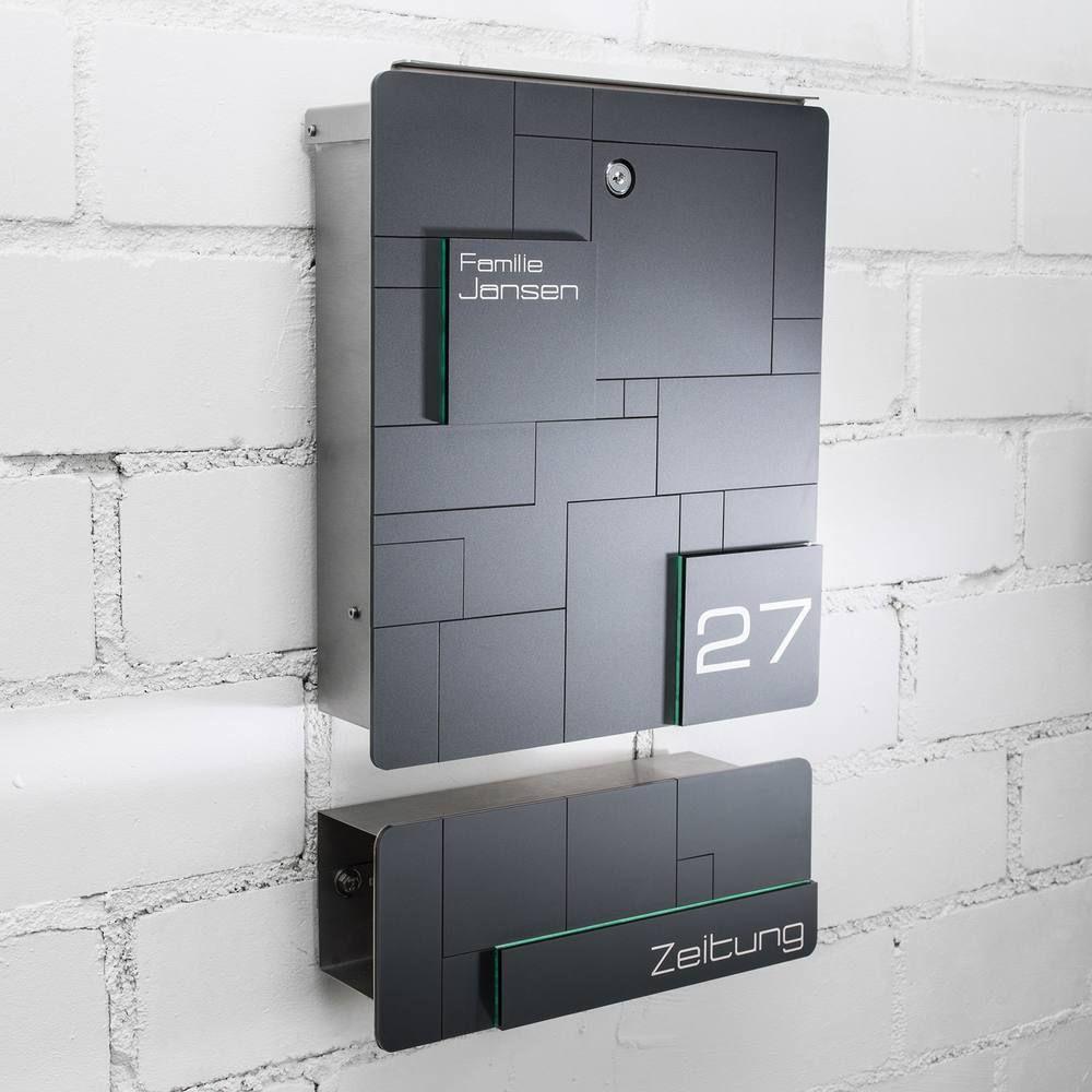 Modell 02 Moderner Design Briefkasten mit Mosaik