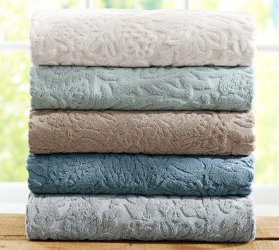 Isaac Floral Sculpted 600-gram Weight Bath Towels  a4d767c05b898