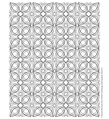 Free Coloring Pages From Jeanean Morrisons Pattern And Design Book On The SewMamaSew Blog