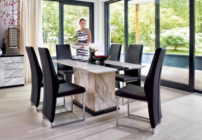 Mont Blanc Dining Table Chairs At Furniture Village Room From