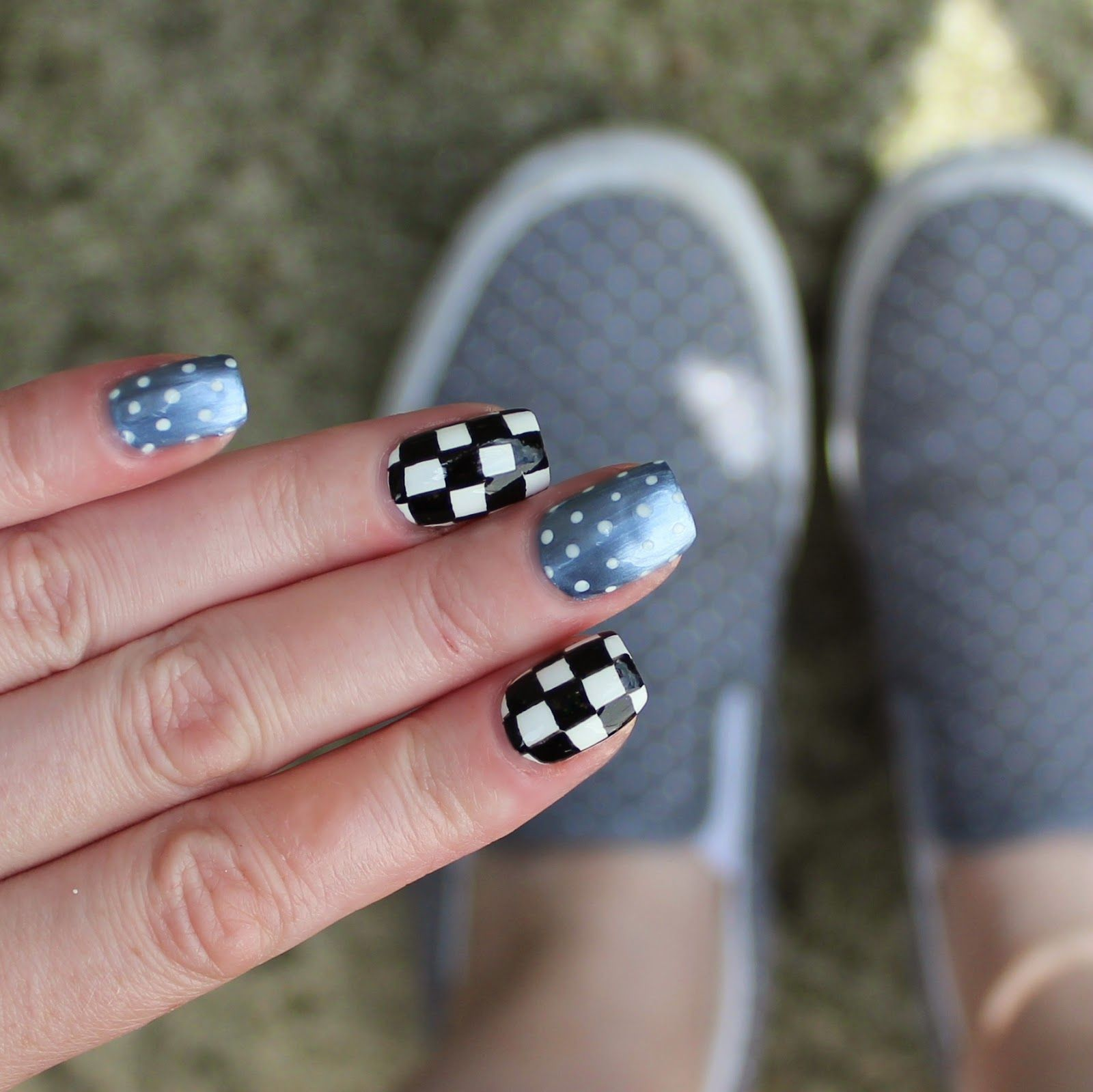 Off The Wall. Vans Inspired Nails