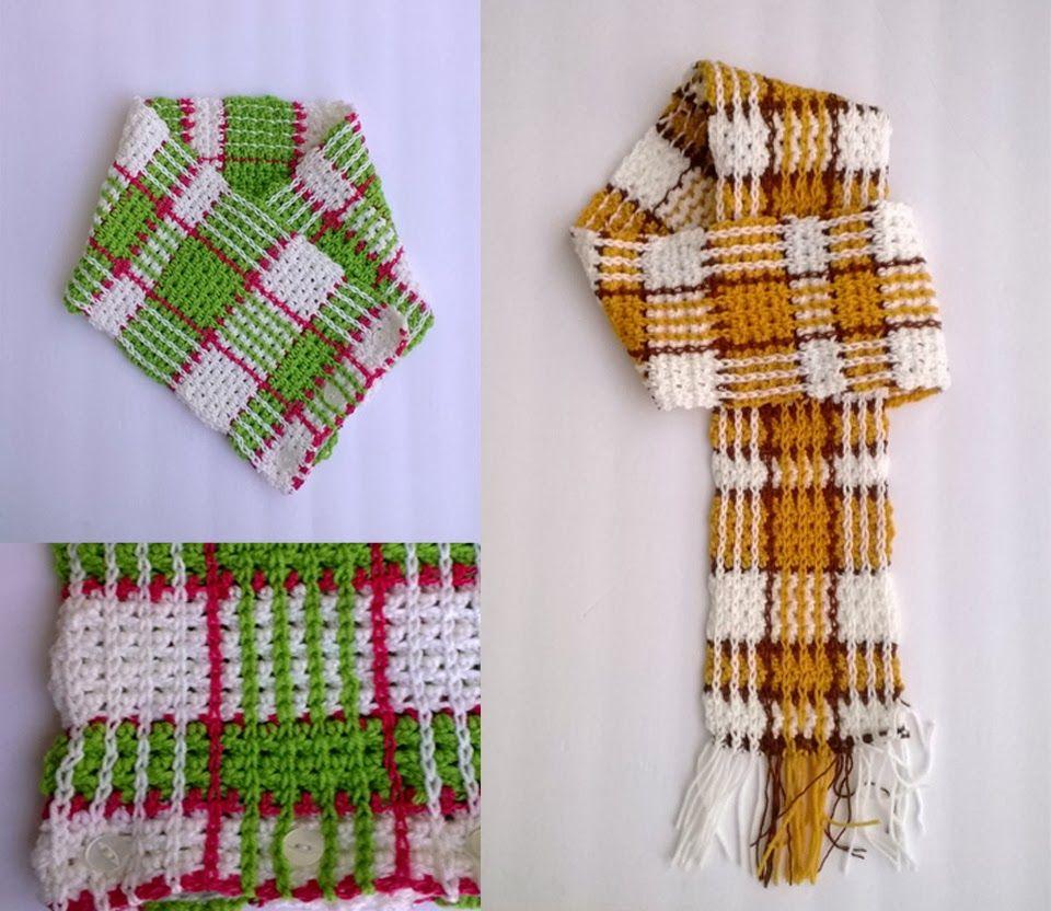 plaid crochet designs scarves shawls and more pinterest handarbeiten und h keln. Black Bedroom Furniture Sets. Home Design Ideas