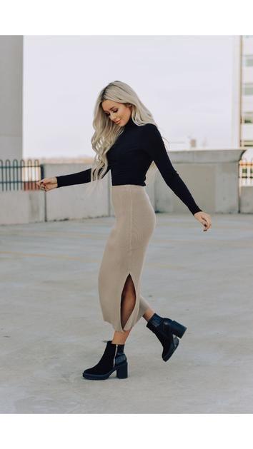 Eden Ribbed Skirt