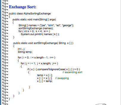 Alphabetical Order String Java