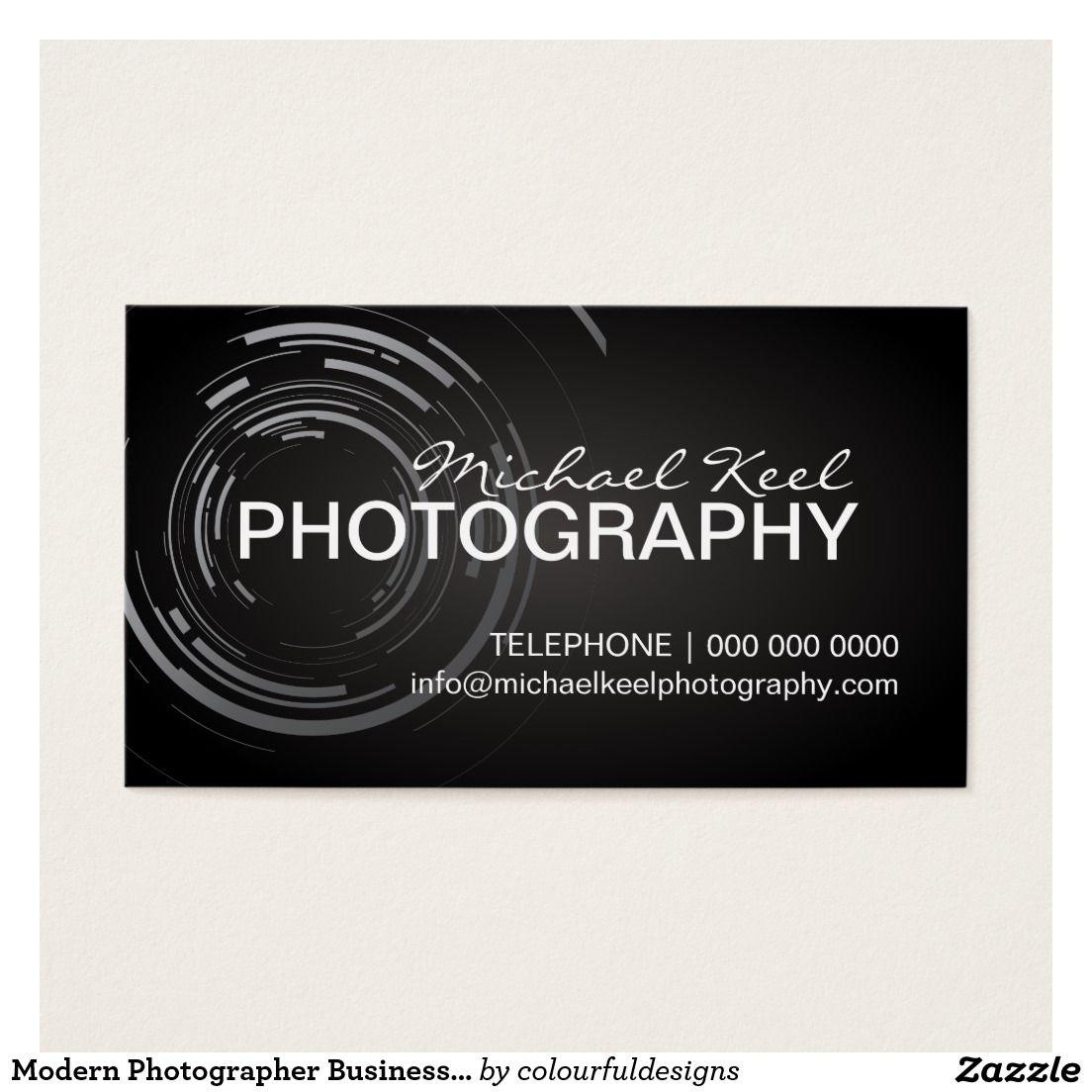 Moderne Fotograf Visitenkarten Visitenkarte Zazzle De