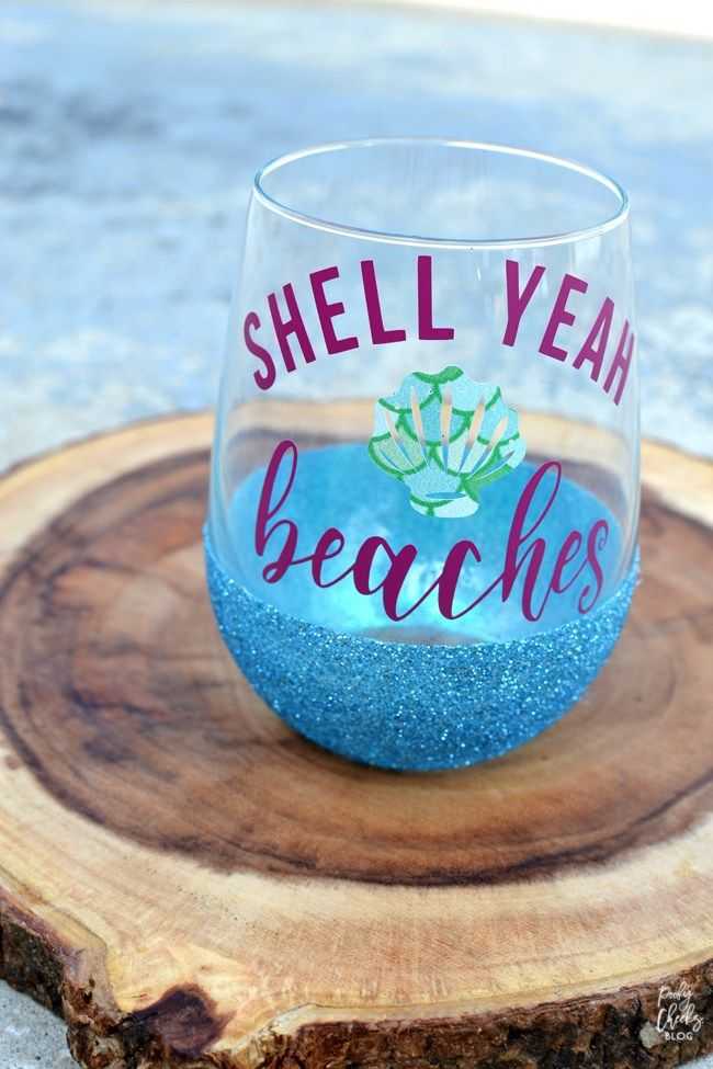 DIY Glitter Dipped Glasses - Dishwasher Safe Glitter Cup - Poofy Cheeks