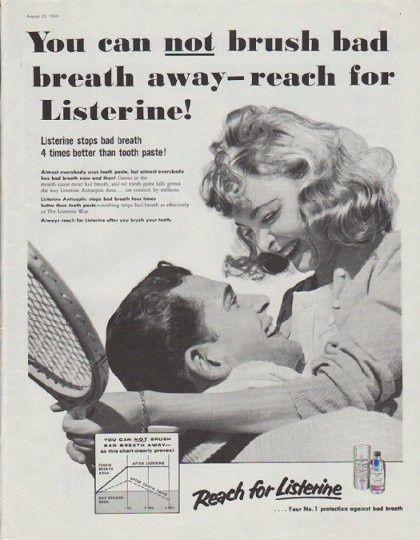 1958 LISTERINE vintage magazine advertisement #Dentist #DentalHistory #vintage #advertisting