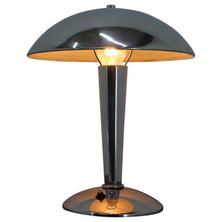 Bauhaus Chrome Table Lamp 1930s In 2021 Chrome Table Lamp Vintage Table Lamp Table Lamp