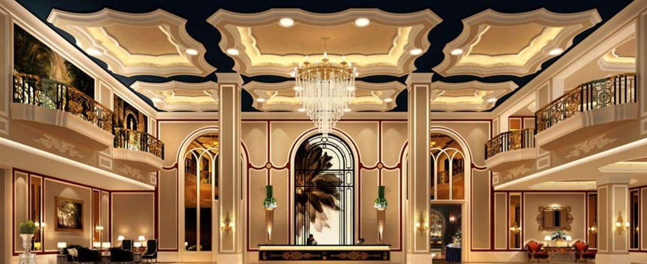 Five-star hotel luxury bathroom interior design