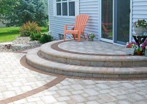 Best Semi Circle Patio Steps With Soilder Course Paving Blocks 400 x 300
