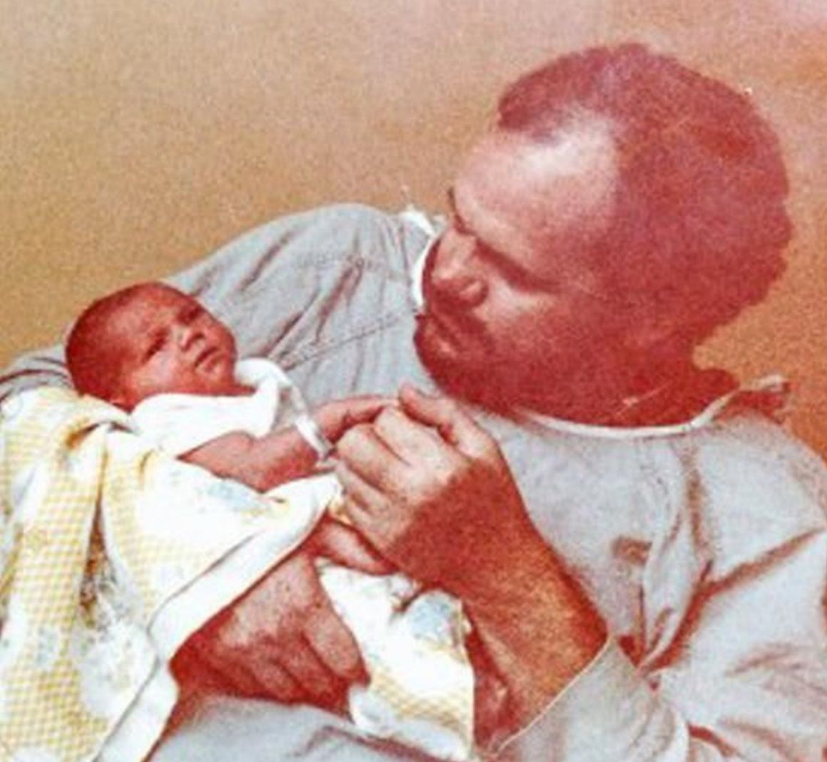 Meghan, Pictured As A Baby With Her Father Thomas Markle