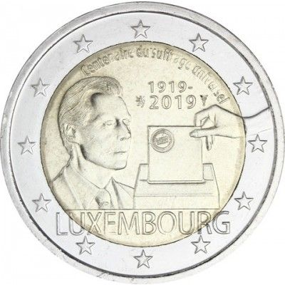 Luxemburg 2 Euro 2019 bfr. 100 J. Allgemeines Wahlrecht