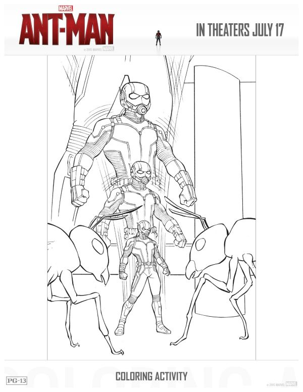 Free Printable Marvel Ant Man Coloring Page