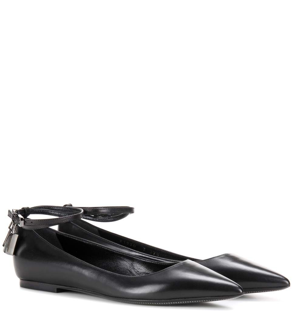 ba473f18bdd TOM FORD Padlock Leather Ballerinas.  tomford  shoes  flats
