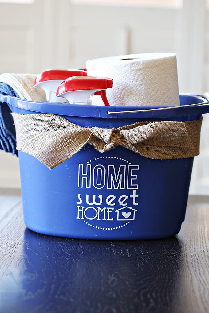 Craft Cleaning Bucket Housewarming Gift Cleaning Buckets House Warming Diy Cleaning Products