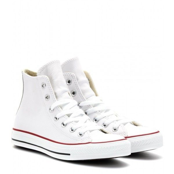37fcfda5a863da Converse Chuck Taylor All Star Leather High-Top Sneakers found on Polyvore