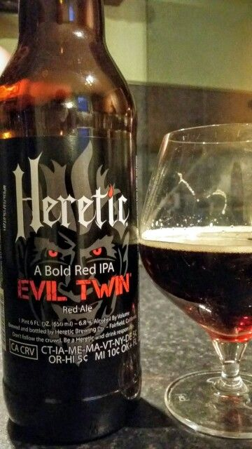 Heretic Evil Twin Red IPA American ~VERY GOOD!
