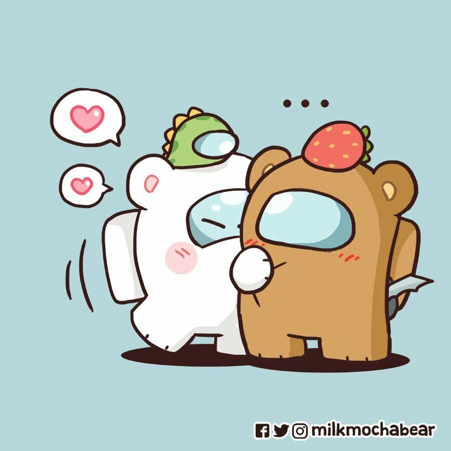 Among Us Cute Bear Drawings Cute Doodles Cute Animal Drawings Kawaii