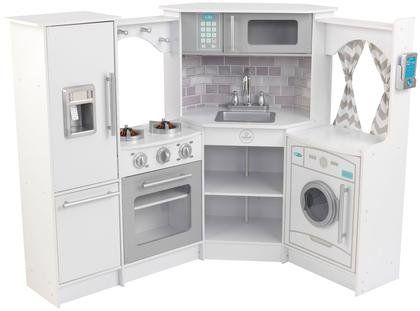 KidKraft Ultimate Corner Kitchen With Lights Sounds White - Kidkraft ultimate corner play kitchen with lights and sounds