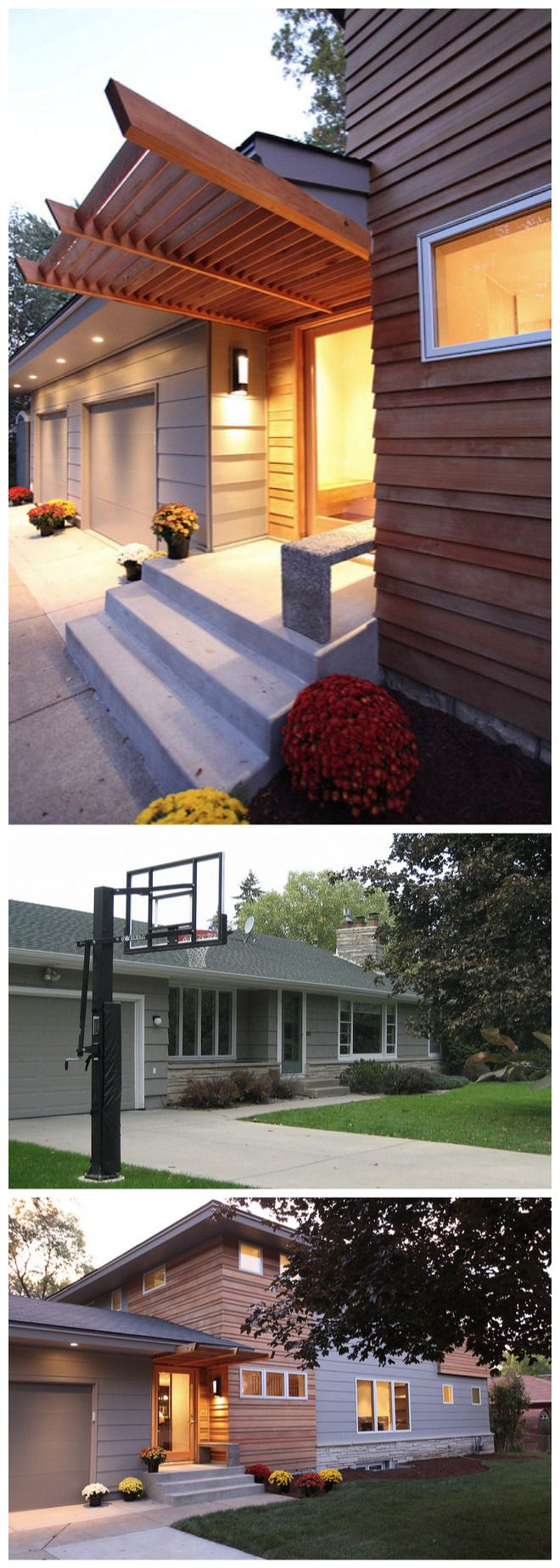 Before And After Of Ranch / Rambler Renovation