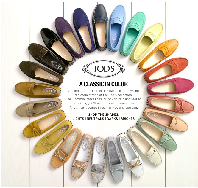Tod's perfect color palette..need all