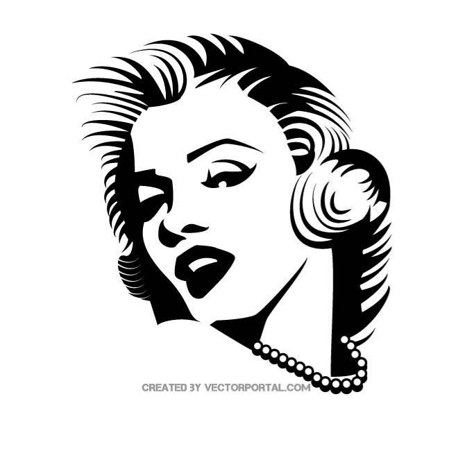 actress marilyn monroe vector vector portrait marilyn monroe silhouette diy actress marilyn monroe vector vector