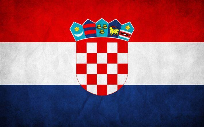 Download Wallpapers Croatian Flag 4k Flag Of Croatia Grunge