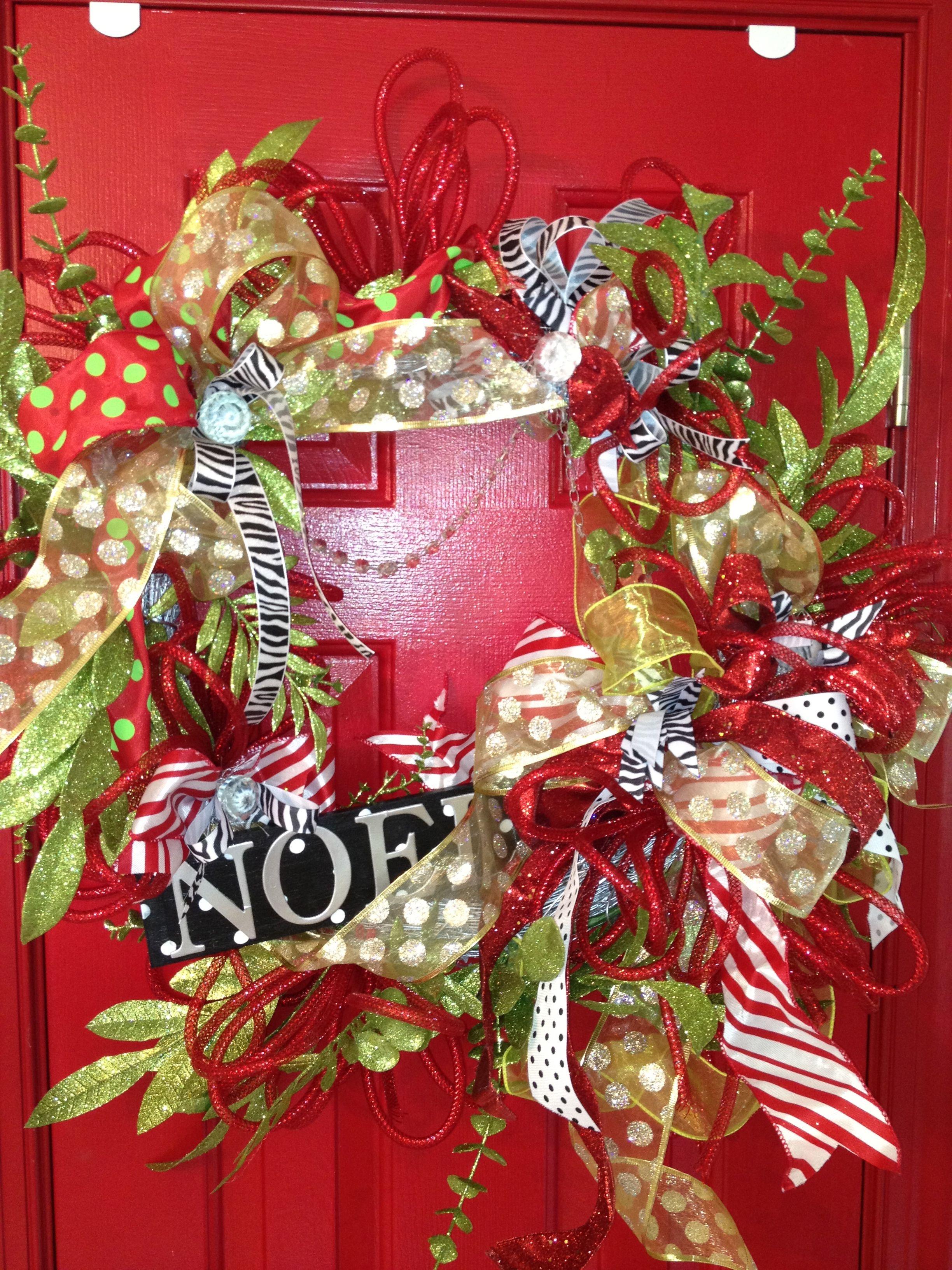 Square wreath Christmas decorations, Christmas diy